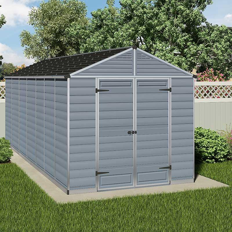 8 X16 2 4x4 8m Palram Grey Skylight Shed Garden Sheds